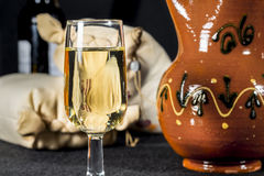 Glass of Manzanilla wine Royalty Free Stock Photos