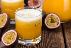 Glass with Maracuja Juice Stock Photography