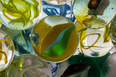 Glass marble.  Royalty Free Stock Image