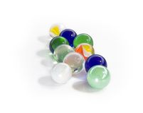 Glass Marbles. With white background Royalty Free Stock Images