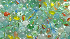 Glass marbles Stock Images