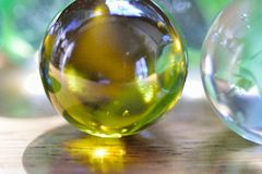 Glass Marbles Stock Photography