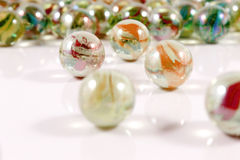 Glass marbles close-up views Stock Photography