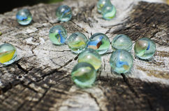 Glass marbles Stock Photo