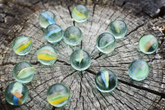Glass marbles Royalty Free Stock Images