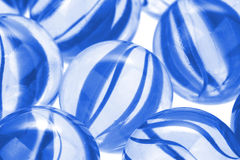 Glass marbles, macro image Royalty Free Stock Photography