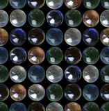 Glass marbles seamless pattern Royalty Free Stock Photo