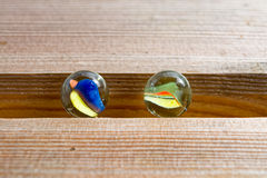 Glass marbles Stock Image