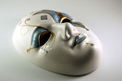 Glass Mardis Gras Mask. A glass Mardis Gras mask from New Orleans, Louisiana Royalty Free Stock Images