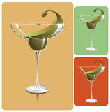 Glass of margarita. Vector illustration of a margarita glass saved in EPS format, no transparency used vector illustration