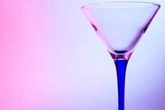 Glass for martini Stock Photography