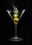 glass martini Arkivbilder
