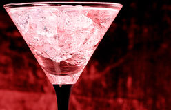 Glass with martini Stock Image