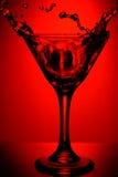 glass martini red Fotografering för Bildbyråer