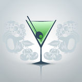 Glass of martini Royalty Free Stock Photography