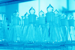 Glass material chemical laboratory glassware Stock Photography