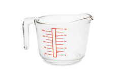 Glass measuring bowl Royalty Free Stock Photography