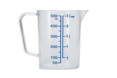 Glass measuring cup Royalty Free Stock Photography