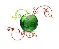 Glass medic sign green color Royalty Free Stock Photo