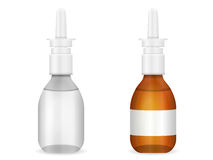 Glass medical bottle set Royalty Free Stock Photography