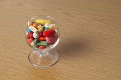 Glass with Medicine Royalty Free Stock Image