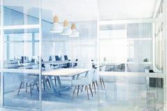 Glass meeting room, corner toned Royalty Free Stock Photo