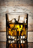 Glass of mellow whiskey Stock Image