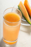 a glass of melon juice Royalty Free Stock Images