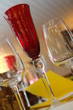 Glass and menu. A set of glasses with a menu Stock Photos