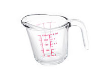 Glass mesuring cup Royalty Free Stock Photography