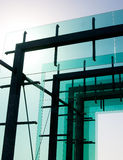 Glass and metal architecture against the clear sky Royalty Free Stock Photography
