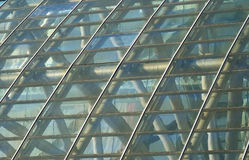 Glass and metal building roof Royalty Free Stock Photo