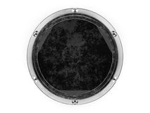 Glass and metal circle graphic element isolated on a white backg Royalty Free Stock Photography