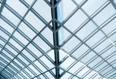 Glass and metal construction Stock Images