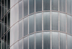 Glass and metal, high-tech background. Detail of a modern office building Stock Image