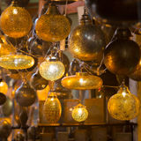 Glass and metal lanterns lamps from Morocco Stock Photography
