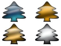 Glass Metal Pines Royalty Free Stock Images