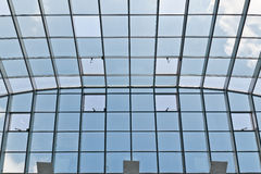 Glass and metal roof Stock Photography