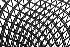 Glass and metal roof of modern building Royalty Free Stock Images