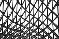 Glass and metal roof of modern building Stock Images