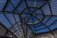 Glass and metal roof structure Royalty Free Stock Images