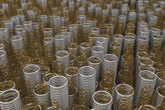 Glass and metal springs and coils Royalty Free Stock Photos