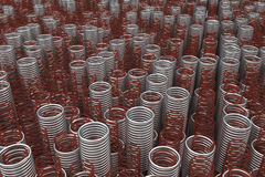 Glass and metal springs and coils Stock Photography