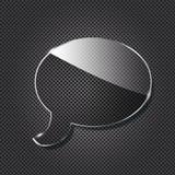 glass metalliskt symbol för bakgrundspratstund stock illustrationer