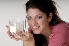 glass milk Στοκ φωτογραφία με δικαίωμα ελεύθερης χρήσης