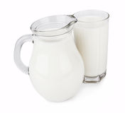 Glass of milk Stock Photos