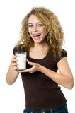 Glass of milk Stock Image