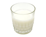 Glass of Milk with Clipping Path Stock Image