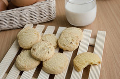 Glass of Milk and  Cookie Stock Images