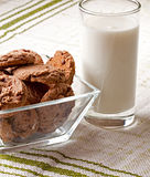 Glass of milk and cookies Stock Image